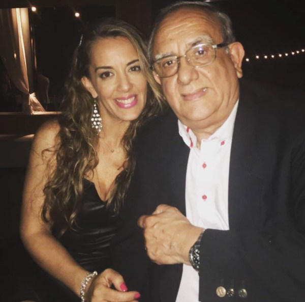 Eugenia Cabral y su papá