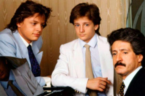 Luis Miguel y Alejandro con su padre Luis Rey