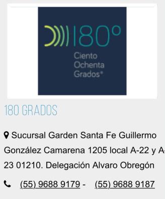 180 GRADOS clínica de belleza.