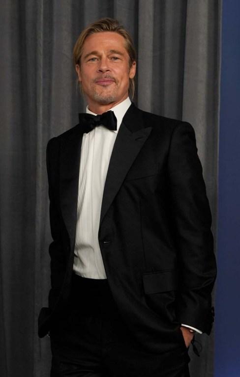 Brad Pitt en los Oscar 2021.