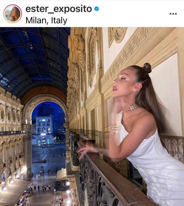 Ester Expósito en Milan