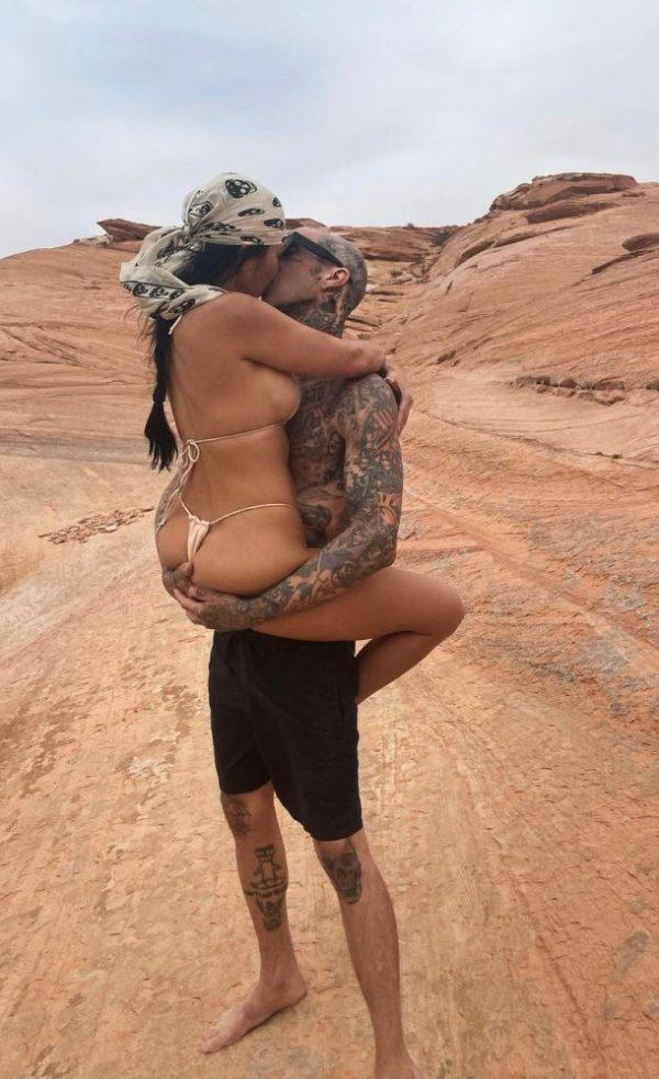 Kourtney Kardashian y Travis Baker