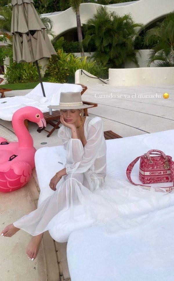 Michelle festejando su cumpleaños en Acapulco