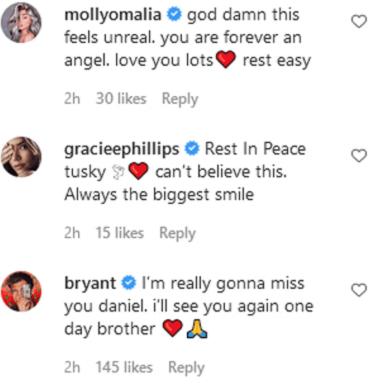 Celebridades comentan en la publicación de Meredith