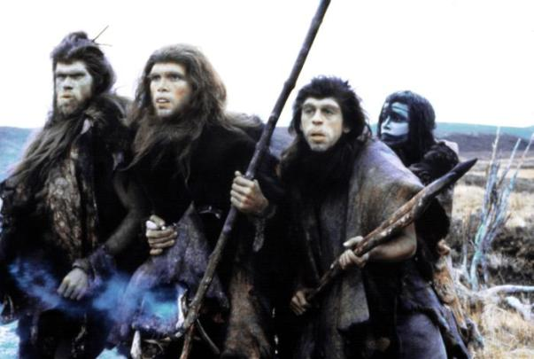 QUEST FOR FIRE, Ron Perlman, Everett McGill, Nameer El-Kadi, Rae Dawn Chong, 1981, TM and Copyright ©20th Century Fox Film Corp. All rights reserved.