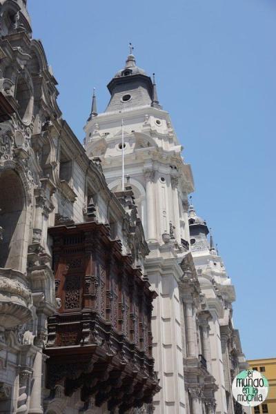 Edificios de la Plaza Mayor en Lima Perú