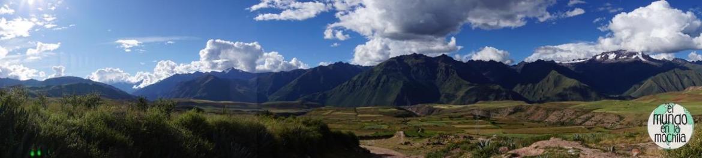 Preciosa panorámica del valle sagrado a media tarde. Llegar aquí es barato y permite buenas caminatas