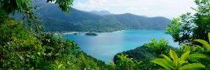elmundoenlamochila.com - Paisaje selva y mar en Ilha Grande