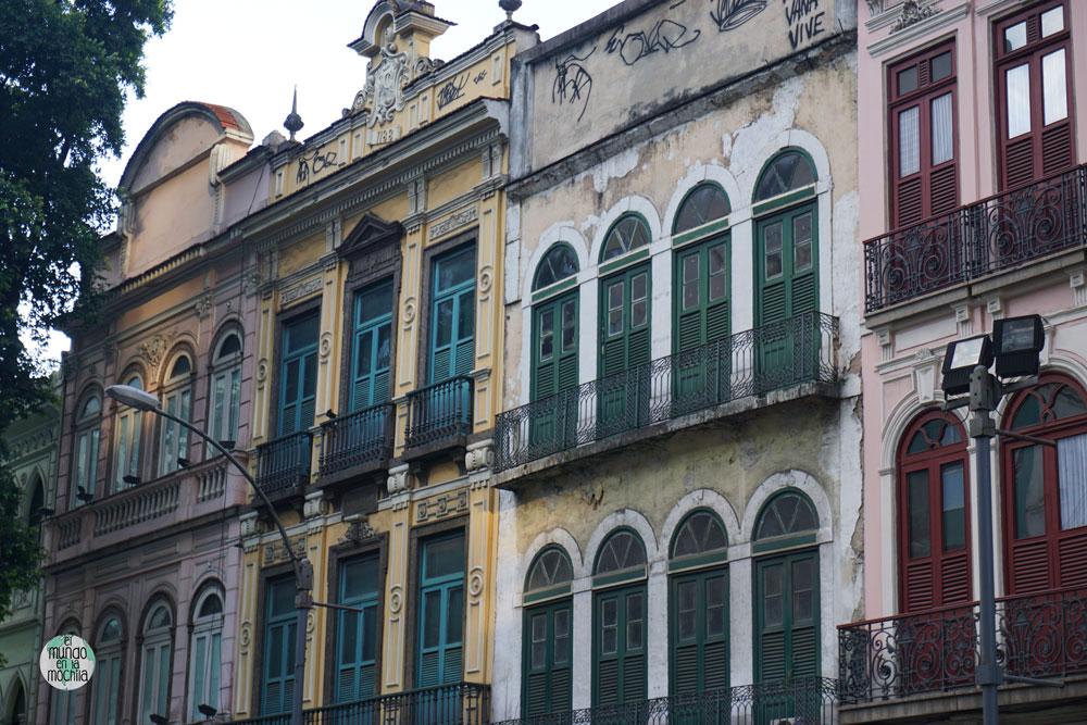 Edificios históricos de Rio de Janeiro en mal estado de conservación