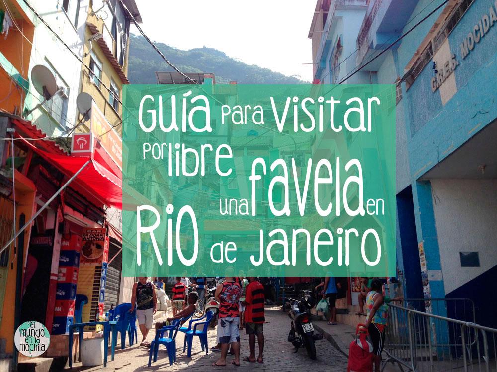 Foto de la favela santa marta con un rótulo del título del proyecto para Pinterest