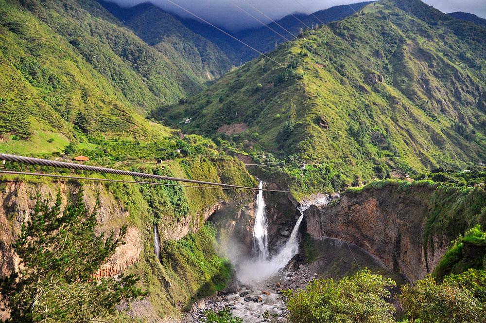 Paisaje en Baños de Agua Santa, Ecuador - Los 10 mejores destinos mochileros de Sudamérica