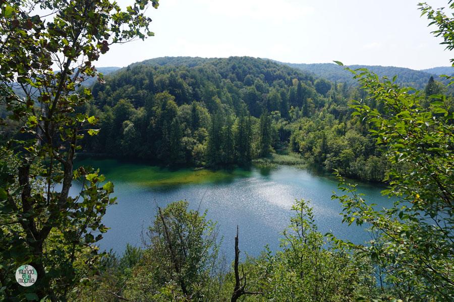 Vista desde el sendero panorámico de uno de los 16 lagos del Parque Nacional Plitvice