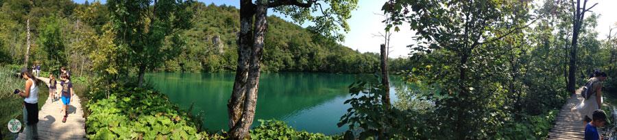 Panorámica de los senderos de Plitvice