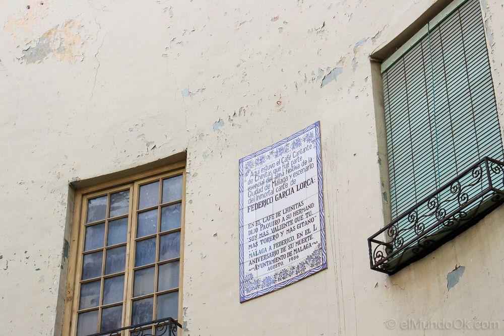 Mosaico que incluye el cante sobre Federico García Lorca.