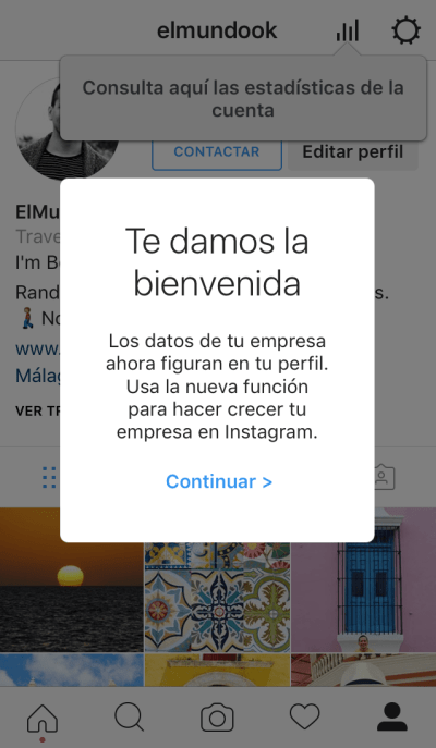 Instagram for business 2- Paso final