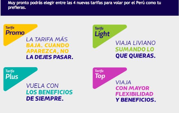 4 Nuevas tarifas de Latam para vuelos nacionales en el Perú.