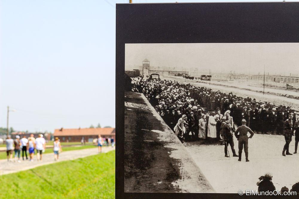 Un antes y después en Auschwitz II Birkenau.