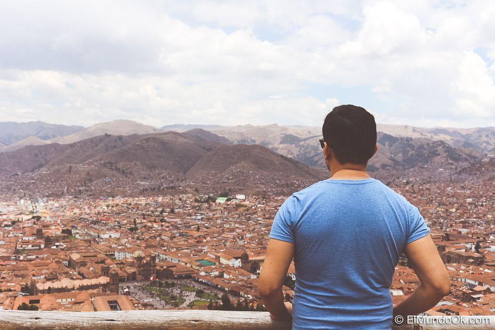 Vistas de Cuzco desde el lado de Sacsahuayman.