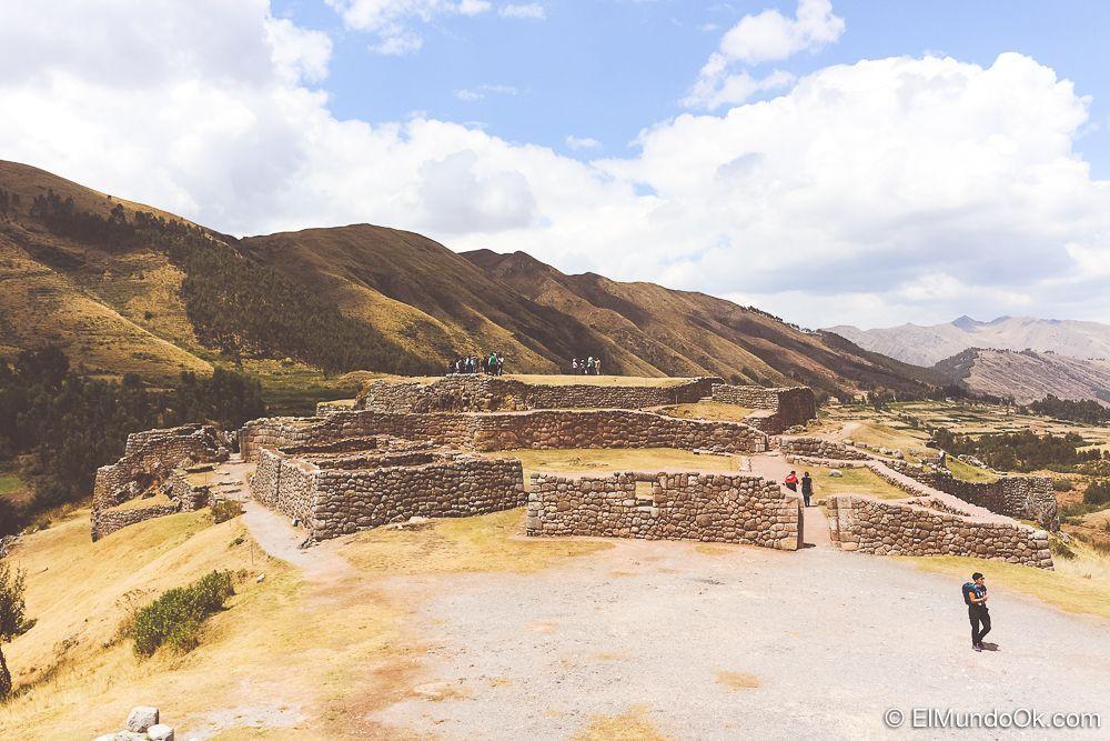 Puka Pukara en Cusco, Perú.
