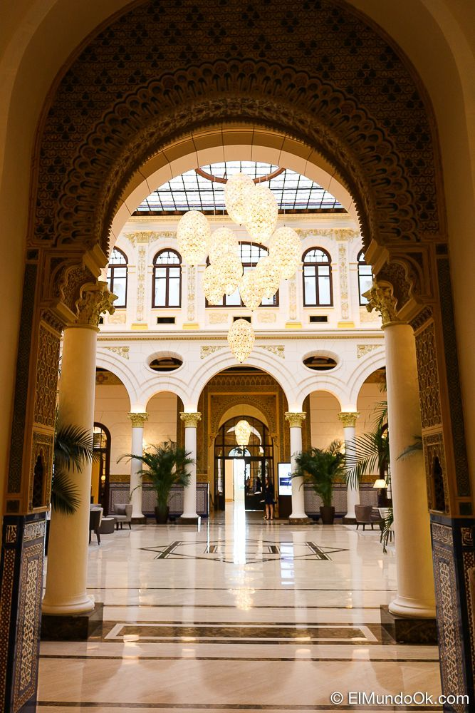 Entrada al Lobby Real desde la Entrada Principal. Gran Hotel Miramar.