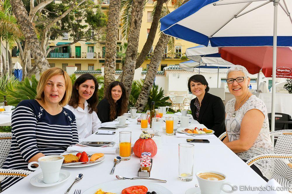 Desayuno en el Restaurante Mediterráneo. Gran Hotel Miramar.