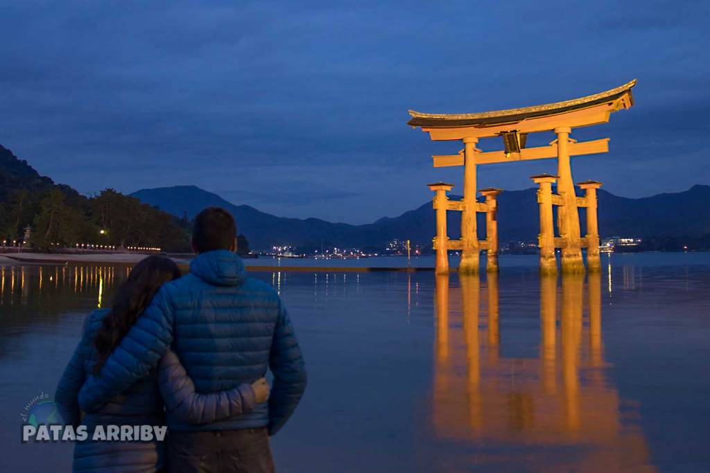 El gran torii de Miyajima
