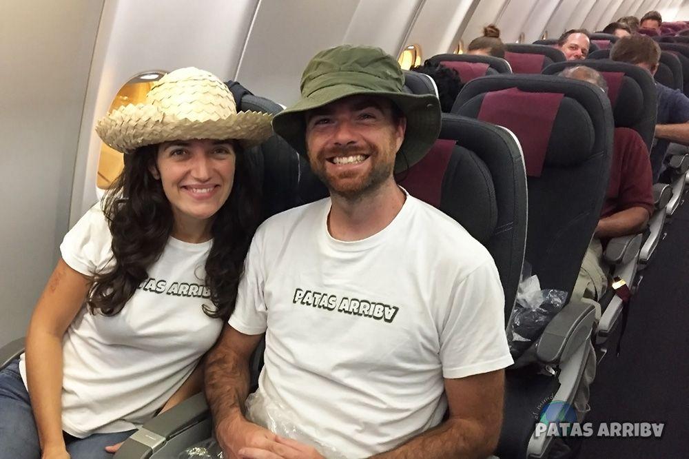 vuelo regreso vuelta al mundo