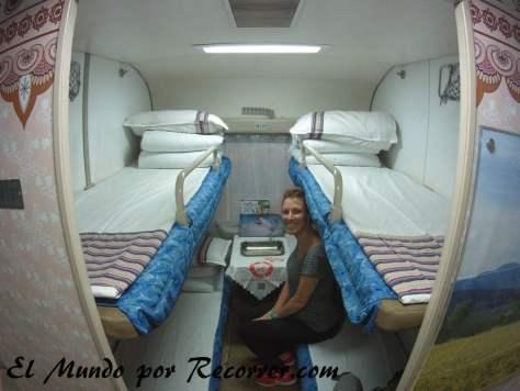 compartimento de 4 camas en segunda clase