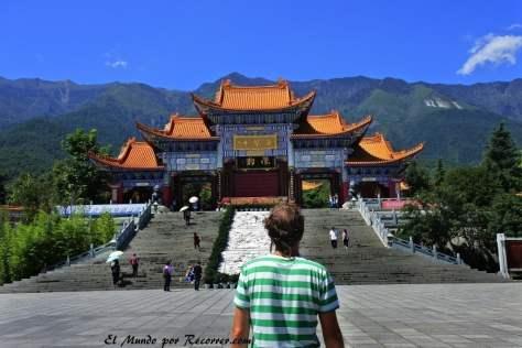 Plaza en el templo de Chongsheng