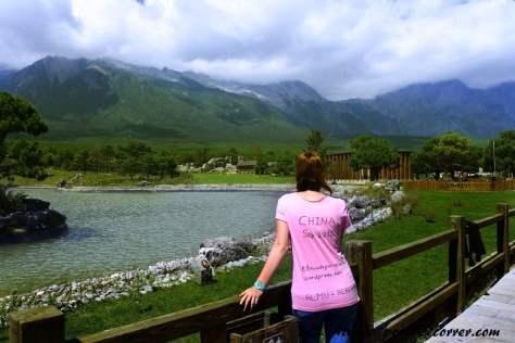 Tourist center en la montaña del Dragón de Jade