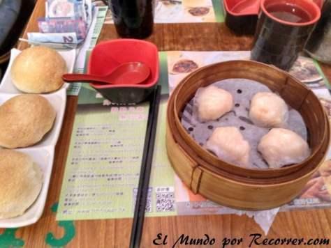 Dumpling rellenos de gambas