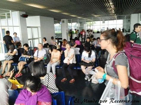 Sala de espera en la terminal de Macao