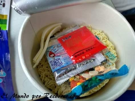 contenido envase de noodle