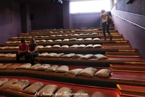 Pequeña sala de cine para el documental inicial