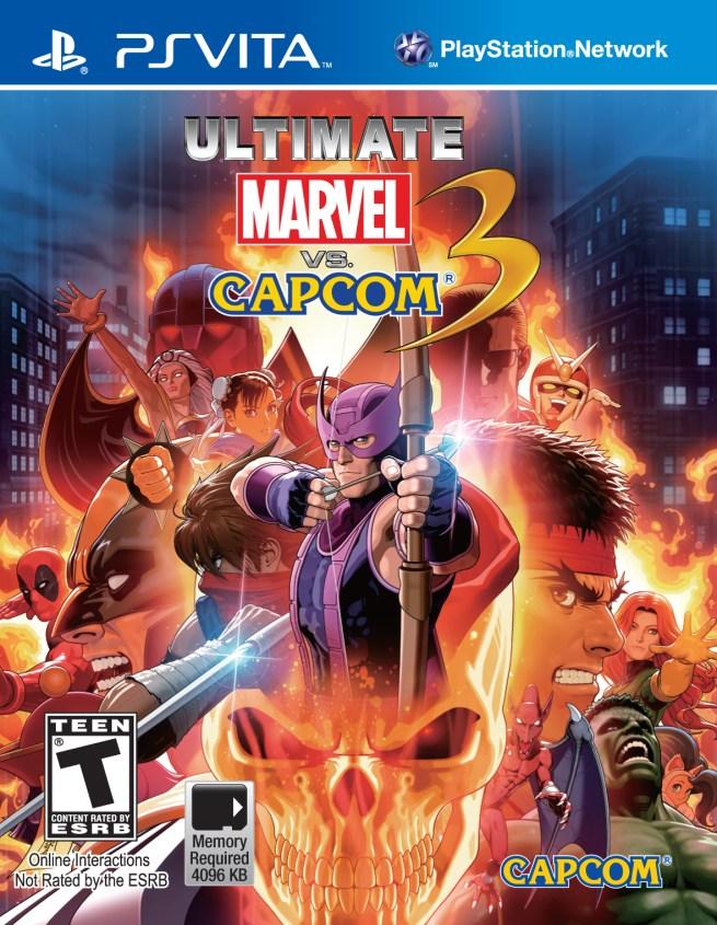 """""""Ultimate Marvel vs Capcpm 3"""" [PS Vita] - Cover Art"""