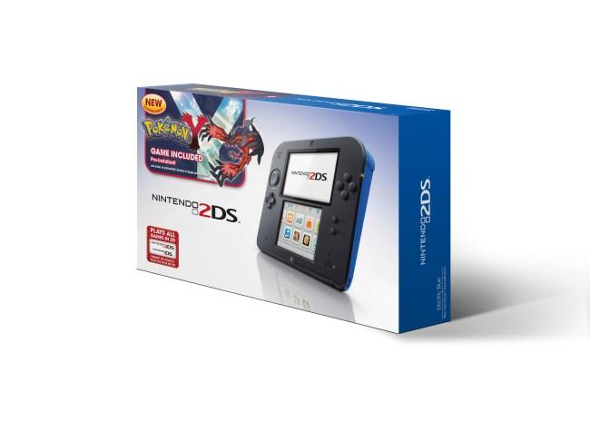 Blue Nintendo 2DS with Pokémon Y bundle