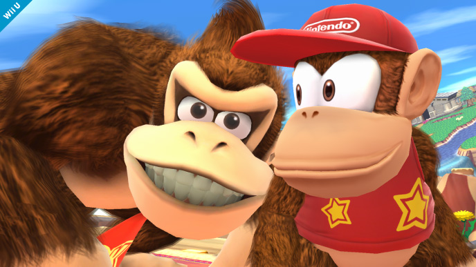 Super Smash Bros. 4: Diddy Kong (with Donkey Kong)
