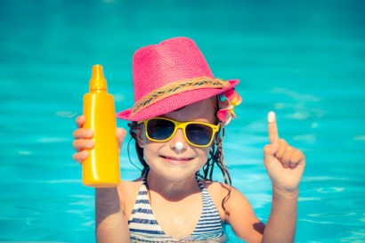 Happy girl in sun