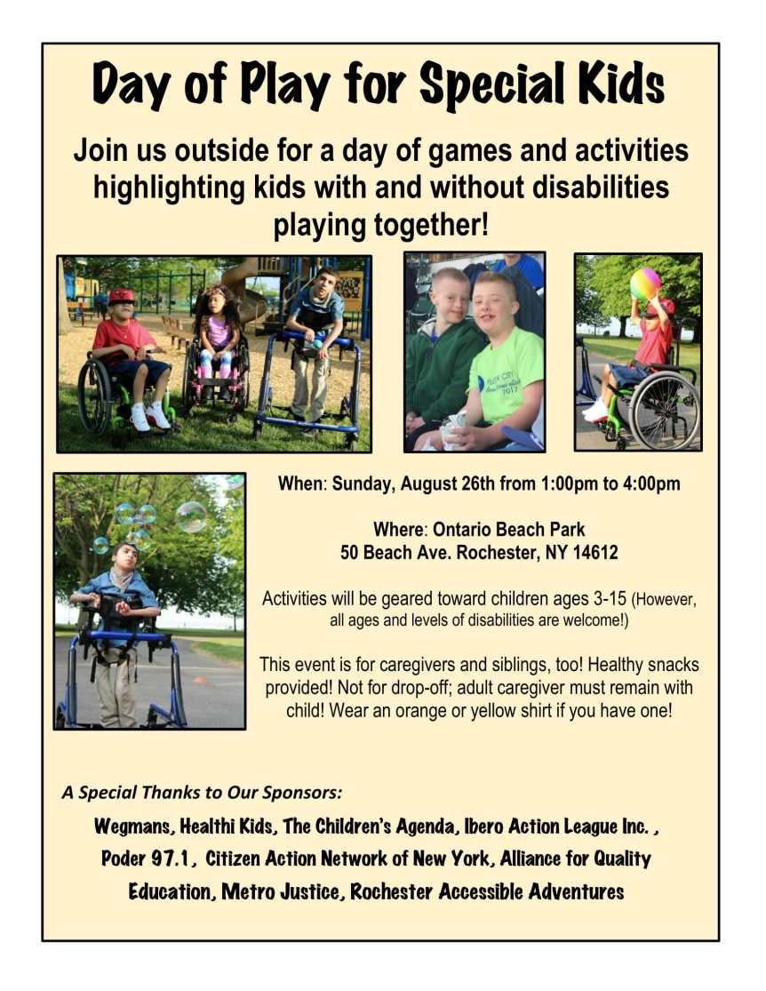 Day of Play for Special Kids Flyer