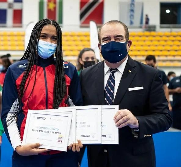 Madeline Guillen fue electa la Jugadora Más Valiosa - JMV de la Copa Panamericana U23 Femenina