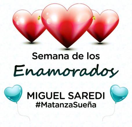 Saredi felicitó a las tres parejas ganadoras del concurso por el Día de los Enamorados