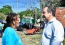 Miguel Saredi informa sobre el operativo de limpieza de Acumar del Canal Río de la Plata en Virrey del Pino