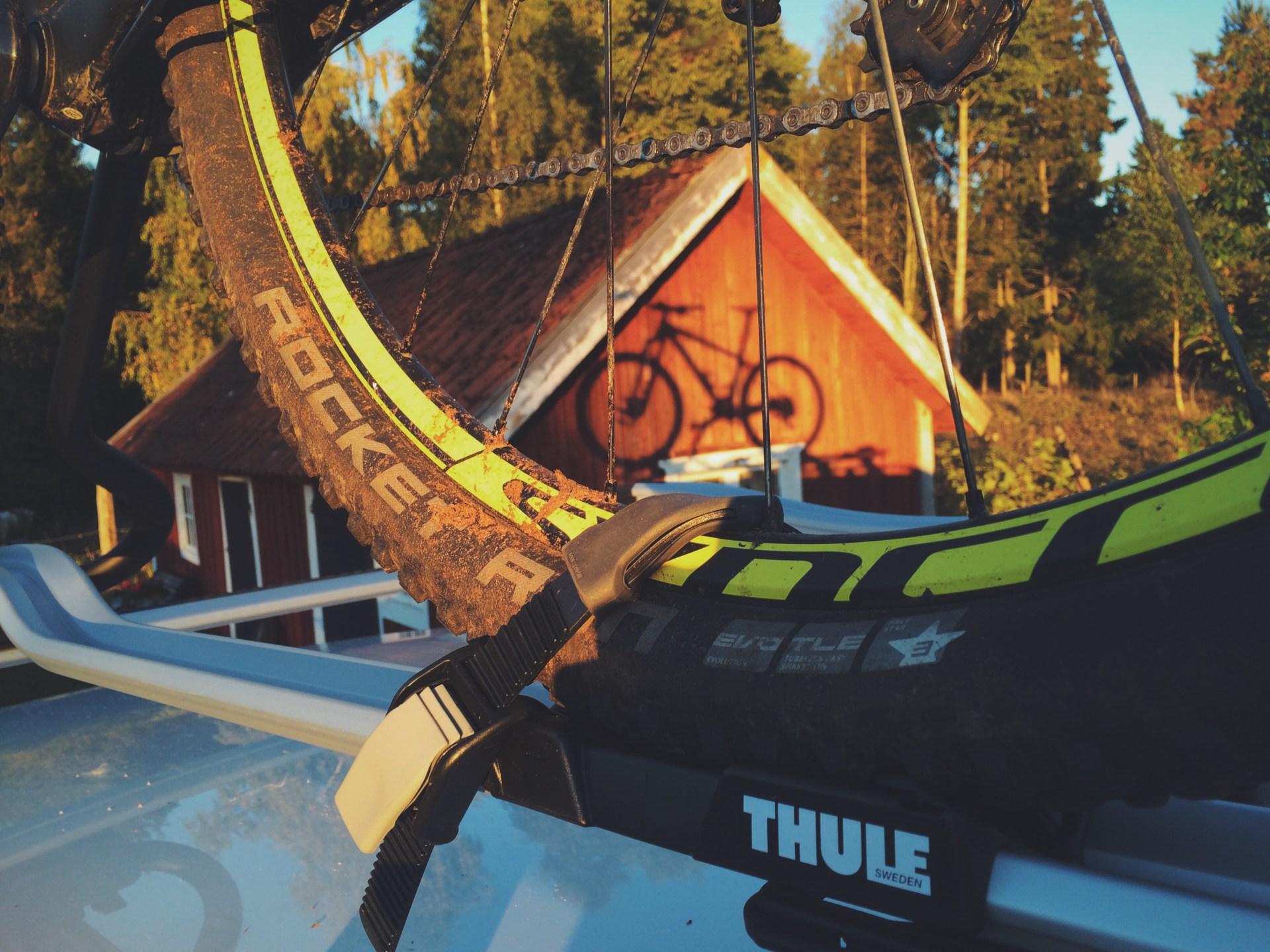 Cykel i Thule takställ