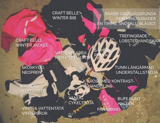 Vintercykelkläder minusgrader