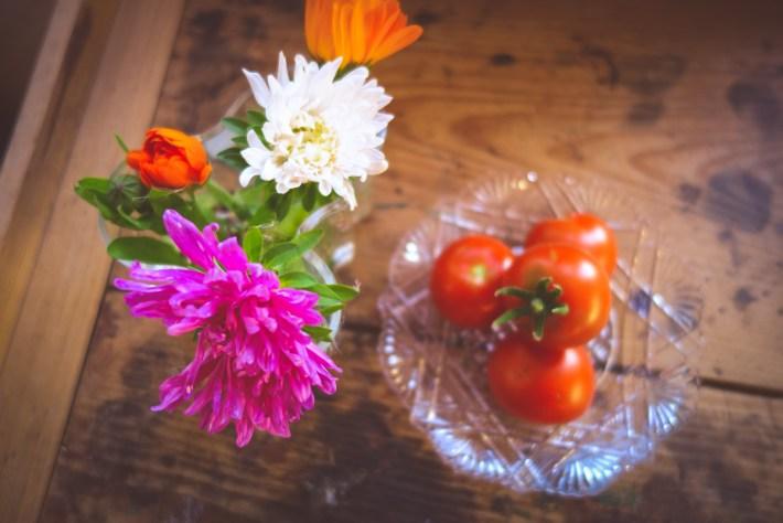 Tomater och höstaster