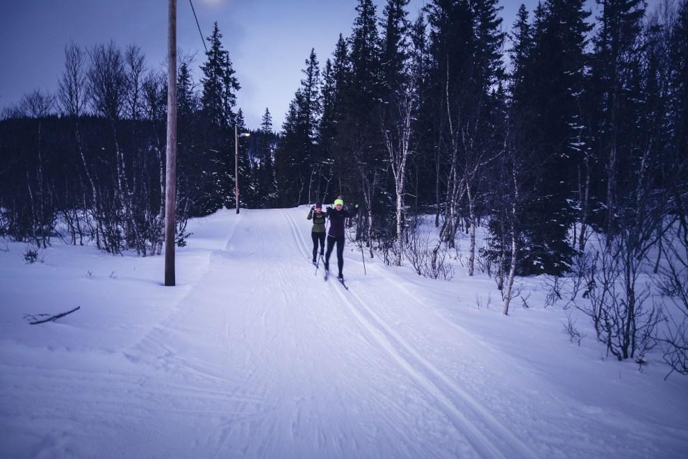 Längdskidor med Helena Enqvist