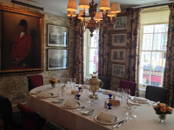 One of the private dining rooms.