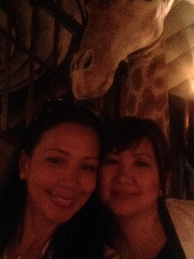 Lynn and I had to having a selfie with the giraffe. ;)