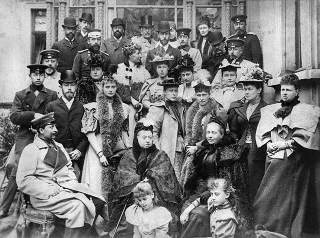 Queen Victoria with her family, 1894.