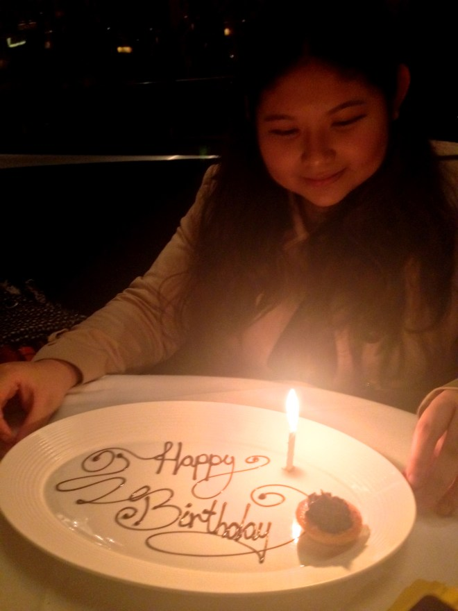 This is my favourite of all the photographs I've taken that night. Kat was very sweet and kind in spending some of the birthday gift her Dad had given her to pay for the meal. Thank you again, Kat. Happy birthday. Love you and miss you a lot.